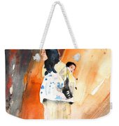 Moroccan Woman Carrying Baby Weekender Tote Bag