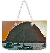 Morro Bay Rock Weekender Tote Bag