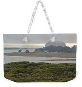 Morro Rock From The Elfin Forest Weekender Tote Bag