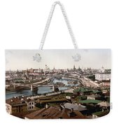 Moscow Russia On The Moskva River - Ca 1900 Weekender Tote Bag