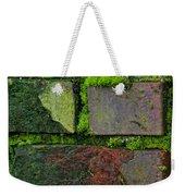 Mossy Brick Wall Weekender Tote Bag