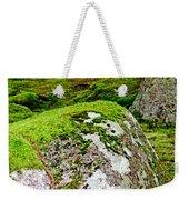 Mossy Rock Garden Weekender Tote Bag