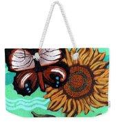 Moth And Sunflower Weekender Tote Bag