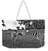Mother And Child-black And White Weekender Tote Bag