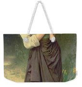 Mother And Child Weekender Tote Bag by William Adolphe Bouguereau