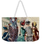 Mother And Children In Indoor Costume Weekender Tote Bag