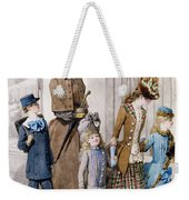 Mother And Children In Walking Dress  Weekender Tote Bag