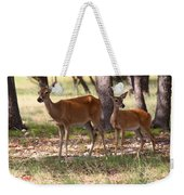 Mother And Yearling Deer Weekender Tote Bag