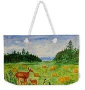 Mother Deer And Kids Weekender Tote Bag