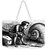 Mother Goose: Snail Weekender Tote Bag by Granger