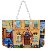 Mother With Baby Carriage Weekender Tote Bag