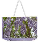 Mother's Day Card - Purple Wisteria Weekender Tote Bag
