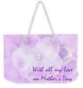 Mother's Day Greeting Card - African Violets Weekender Tote Bag