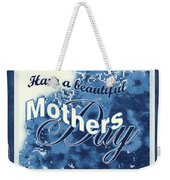 Mothers Day In Blue Weekender Tote Bag