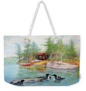 Mother's Meeting - Lake Of Two Rivers Weekender Tote Bag