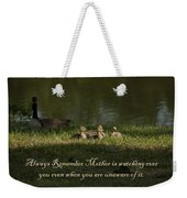 Mother's Watchful Eye Weekender Tote Bag by Kathy Clark
