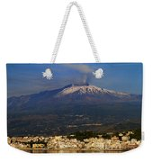 Mount Etna Weekender Tote Bag