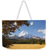 Mount Hood And Autumn Colours In Hood Weekender Tote Bag