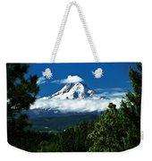 Mount Hood Framed By Trees, Oregon, Usa Weekender Tote Bag