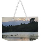 Mount Kilimanjaro Rises Above One Weekender Tote Bag