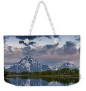 Mount Moran Under Black Cloud Weekender Tote Bag