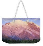 Mount Rainier At Sunrise Mount Rainier Weekender Tote Bag