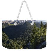 Mount Rainier Surrounded By Forest Weekender Tote Bag