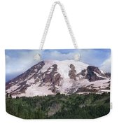 Mount Rainier With Coniferous Forest Weekender Tote Bag