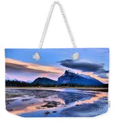Mount Rundle In The Evening Weekender Tote Bag
