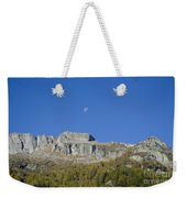 Mountain And Moon Weekender Tote Bag