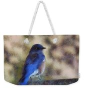 Mountain Bluebird Painterly Weekender Tote Bag