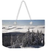 Mountain During Winter Weekender Tote Bag