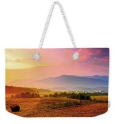 Mountain Morning Farm In Cades Cove Weekender Tote Bag