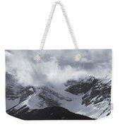 Mountain Panoramic In Winter, Spray Weekender Tote Bag