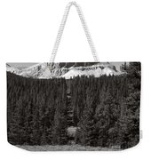 Mountain Peak Above The Tree Line Weekender Tote Bag