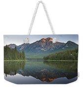 Mountain Reflection, Pyramid Mountain Weekender Tote Bag
