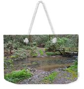 Mountain Road And Footbridge Weekender Tote Bag
