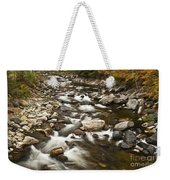Mountain Stream In Autumn Weekender Tote Bag