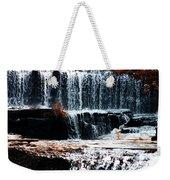 Mountain Stream Waterfall Weekender Tote Bag