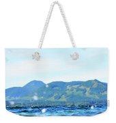 Mountain Waves Weekender Tote Bag