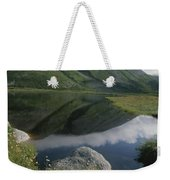 Mountains And Clouds Are Reflected Weekender Tote Bag