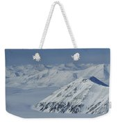 Mountains And Glaciers Near Ny Alesund Weekender Tote Bag