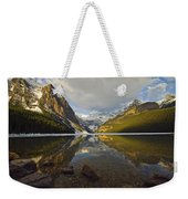 Mountains Reflected In Lake Louise Weekender Tote Bag