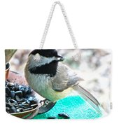 Mouth Full Chickadee Weekender Tote Bag