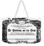 Mozart: Seraglio, 1782 Weekender Tote Bag