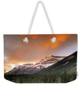 Mt. Amery And Dramatic Clouds, Banff Weekender Tote Bag