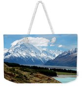 Mt Cook Across Lake Pukaki Weekender Tote Bag