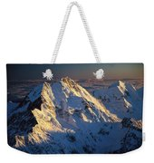 Mt Cook Or Aoraki And Mt Tasman, Aerial Weekender Tote Bag