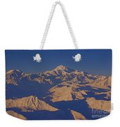 Mt. Mckinley Sunset From Above Weekender Tote Bag