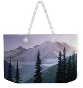 Mt Rainier As Seen At Sunrise Mt Weekender Tote Bag